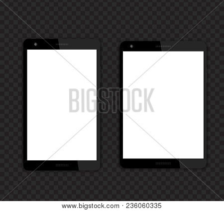 Tablets Mockups With Blank Screens, Different Aspect Ratio 16:10 And 4:3