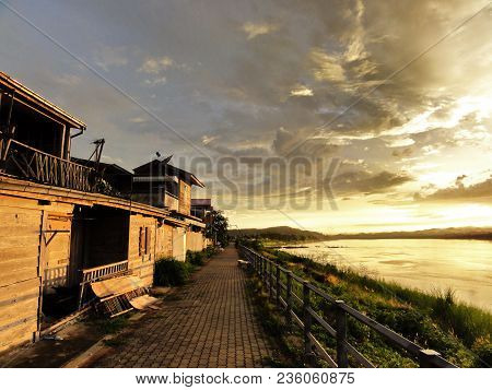 At Southeast Asia Chiang Khan Is A Tourist Attraction In Loei Province With Very Good Weather, One F
