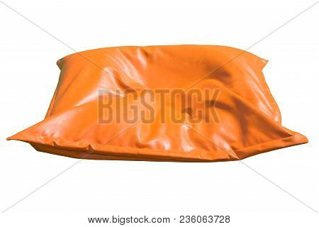 Seat Cushion Isolated On White Background. This Has Clipping Path.