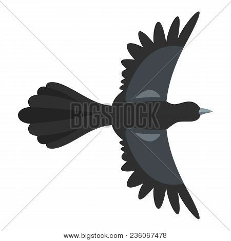 Beautiful Magpie Icon. Flat Illustration Of Beautiful Magpie Vector Icon For Web