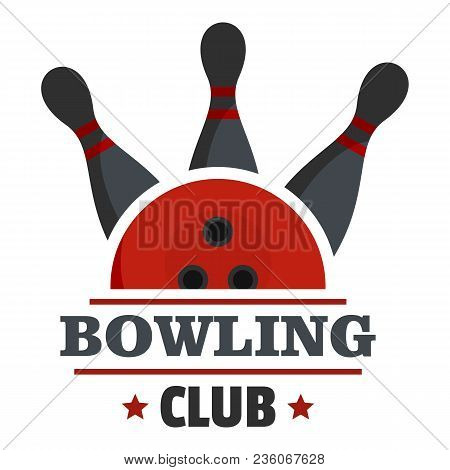 Bowling Score Logo. Flat Illustration Of Bowling Score Vector Logo For Web