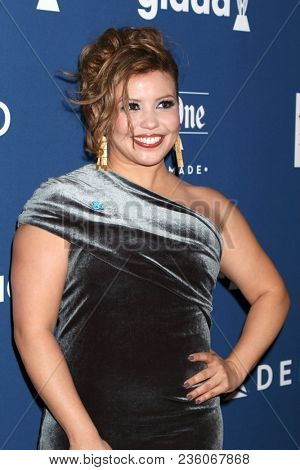 LOS ANGELES - APR 12:  Justina Machado at GLAAD Media Awards Los Angeles at Beverly Hilton Hotel on April 12, 2018 in Beverly Hills, CA