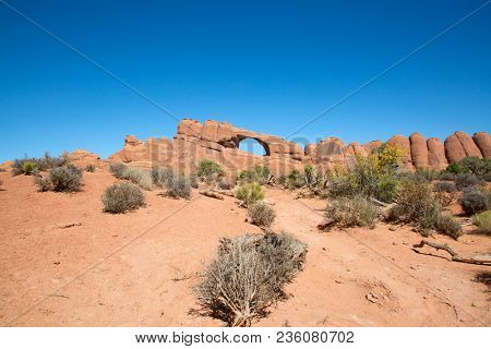 Famous arch in the Arches National park, Utah, USA