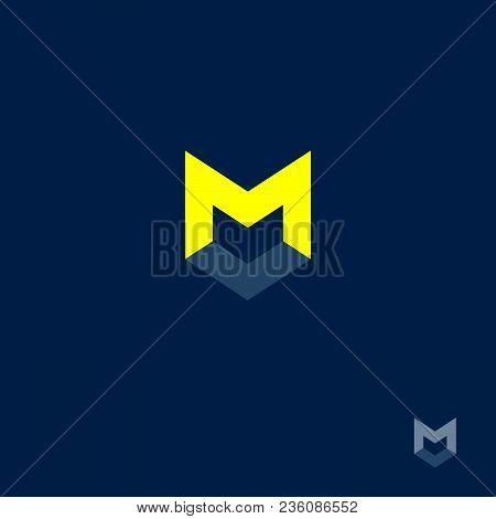 M Letter. M Monogram. M Letter On A Dark Background.