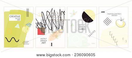 Set Of Artistic Minimal Universal Card Templates