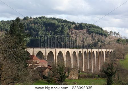Viaduct Of Mussy Sous Dun In Burgundy, France