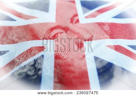 Foreign Investing With British Flag With One Dollar Bill High Quality Stock Photo