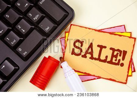 Word Writing Text Sale Motivational Call. Business Concept For Selling Goods At Reduced Prices Make