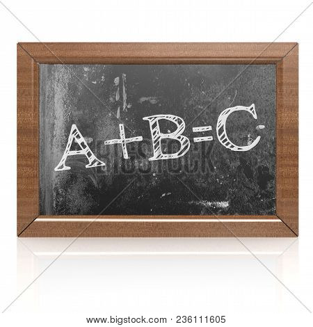 Education Concept With Abc On Blackboard, 3d Rendering