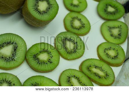 Delicious Fresh Kiwi Total Background Alimentation Bio,