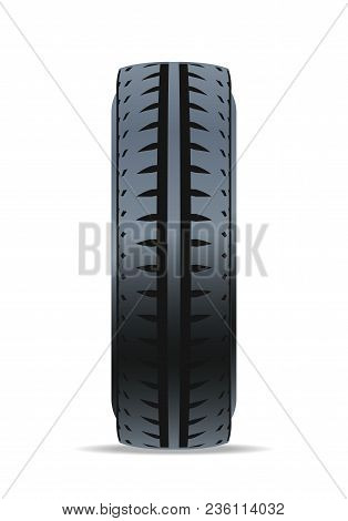 Off Road Car Tire Icon. Consumables For Car, Auto Service Concept, Wheel Vehicle Isolated On White B
