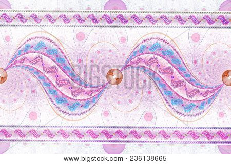 Abstract Fantasy Colorful Swirly Ornament - Fractal,  Fractal Shapes Fantasy Pattern
