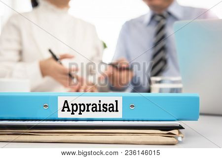 Appraisal Documents On Desk With Manager And Board Are Discuss About Property Appraisal Or The Appra