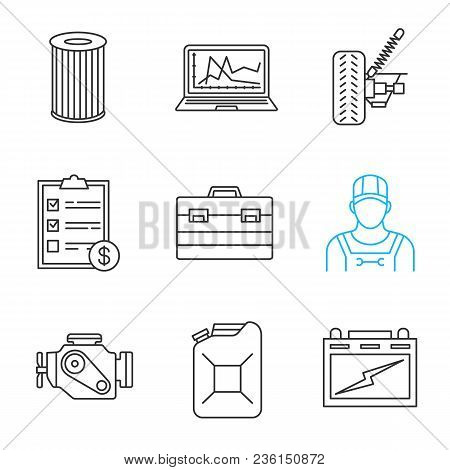 Auto Workshop Linear Vector & Photo (Free Trial) | Bigstock