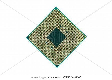 Cpu, Central Processing Unit , Isolated On White Background. Electronic Component Or Integrated Circ