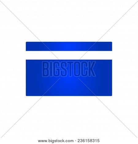 Credit Card Icon. Vector Illustration. Flat Style