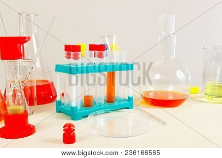 Equipment For Clinical Analyzes On The Laboratory Table
