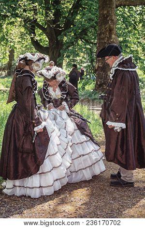 April  19, 2014, Haarzuilens, The Netherlands: Costumed Participants Of The Elf Fantasy Fair (elfia)