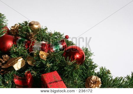 Christmas Greenery And Baubles
