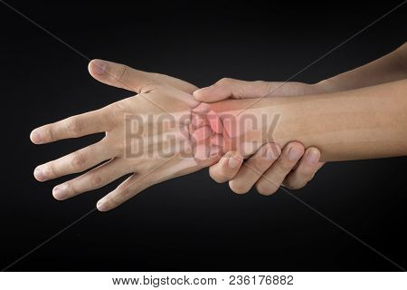 Wrist Bones Injury Black Background Wrist Pain