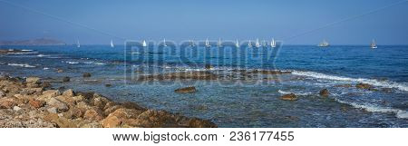 Picturesque Seascape In  Port Of Xania, Greece