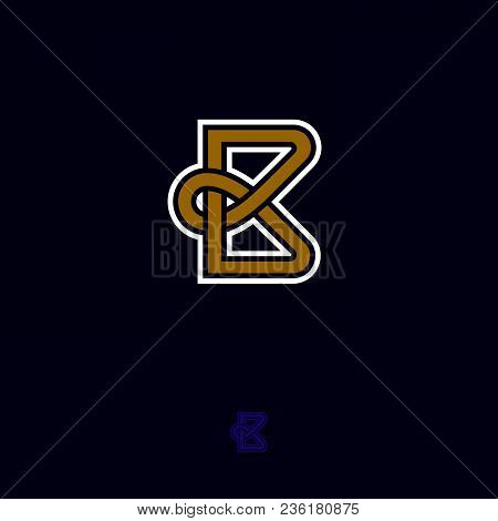 B Monogram. B Logo. B Emblem On Dark Background.