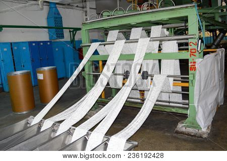 Production Process Of White Synthetic Acrylic Fiber Production At The Petrochemical Plant