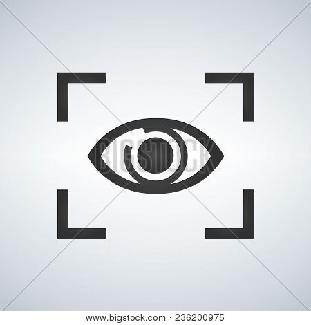 Eye Focus Flat Icon, Vector Illustration Isolated On Modern Background
