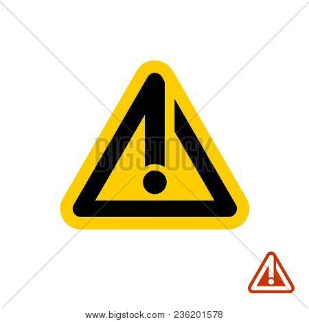 Caution Warning Sign. Triangle Orange Exclamation Sign Line Style Icon.