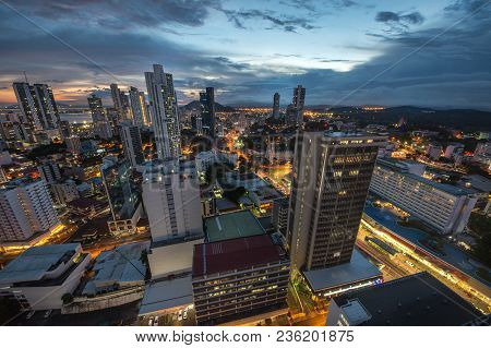 Panama City In The Twilight In Panama City