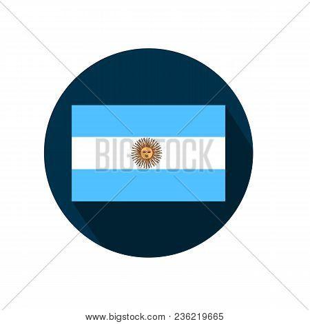 Flag Of Argentina On A White Background. Vector Illustration