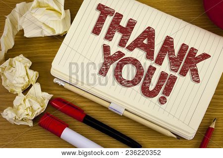 Conceptual Hand Writing Showing Thank You Motivational Call. Business Photo Showcasing Appreciation
