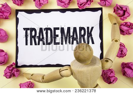 Handwriting Text Trademark. Concept Meaning Legally Registered Copyright Intellectual Property Prote