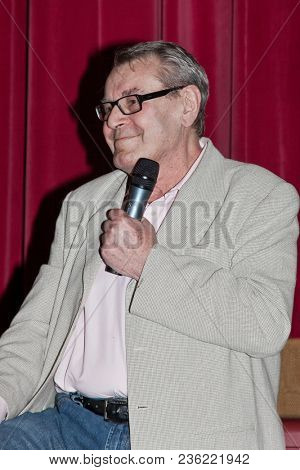 STAMFORD,CT, USA-MAY 28, 2009 : Milos Forman answered the questions about the movie ``One Flew Over the Cuckoos Nest`` on Avon Theatre.