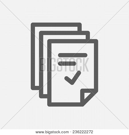 Tasks Icon Line Symbol. Isolated Vector Illustration Of  Icon Sign Concept For Your Web Site Mobile