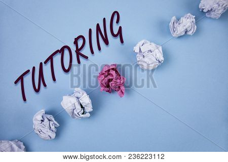 Handwriting Text Writing Tutoring. Concept Meaning Mentoring Teaching Instructing Preparing Supporti