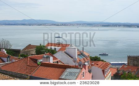 Shore Of Lisboa Gulf