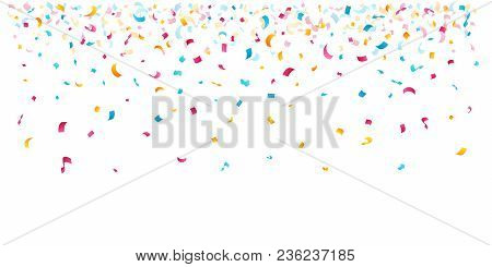 Confetti Decoration Elements For Birthday, Carnival, Anniversary, Holiday And Celebration Party Back