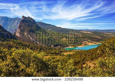 Provence, Alpes-Côte d'Azur, France. Fascinating journey through the azure waters. The Verdon River. Concept of ecological and active tourism