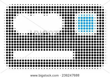 Banking Card Halftone Vector Pictogram. Illustration Style Is Dotted Iconic Banking Card Icon Symbol