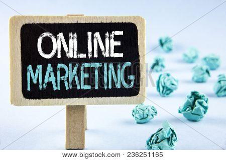 Writing Note Showing  Online Marketing. Business Photo Showcasing Marketing Digital Advertising Soci