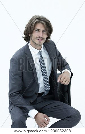 business man thinking wear elegant suit and tie