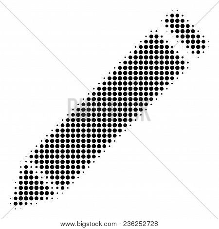 Edit Pencil Halftone Vector Icon. Illustration Style Is Dotted Iconic Edit Pencil Icon Symbol On A W