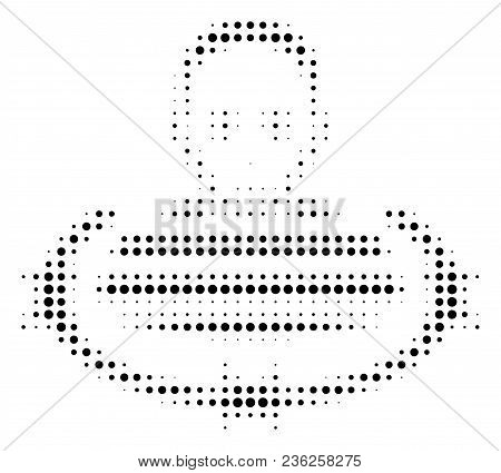 Isolated Prisoner Halftone Vector Pictogram. Illustration Style Is Dotted Iconic Isolated Prisoner I