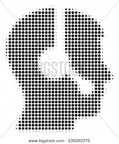 Operator Halftone Vector Icon. Illustration Style Is Dotted Iconic Operator Icon Symbol On A White B