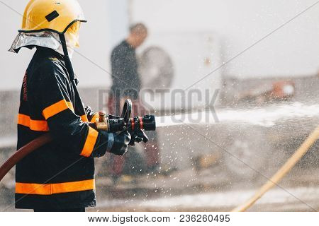 Firefighters In Action ,firefighters Training