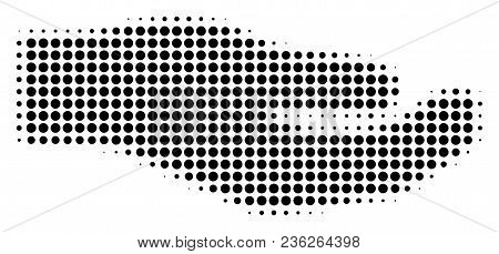 Share Hand Halftone Vector Icon. Illustration Style Is Dotted Iconic Share Hand Icon Symbol On A Whi