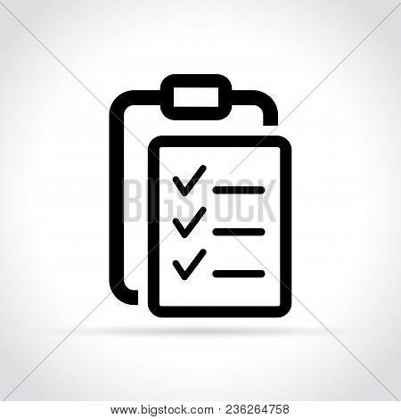 Illustration Of List Icon On White Background