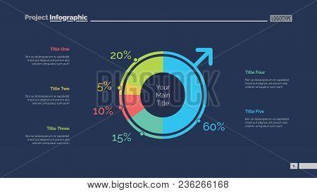 Male Population Slide Template. Business Data. Graph, Diagram, Design. Creative Concept For Infograp