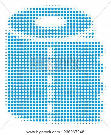 Toilet Paper Roll Halftone Vector Icon. Illustration Style Is Dotted Iconic Toilet Paper Roll Icon S